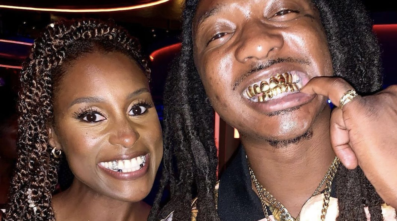 The source |  Issa Rae gets custom grillz for her wedding day