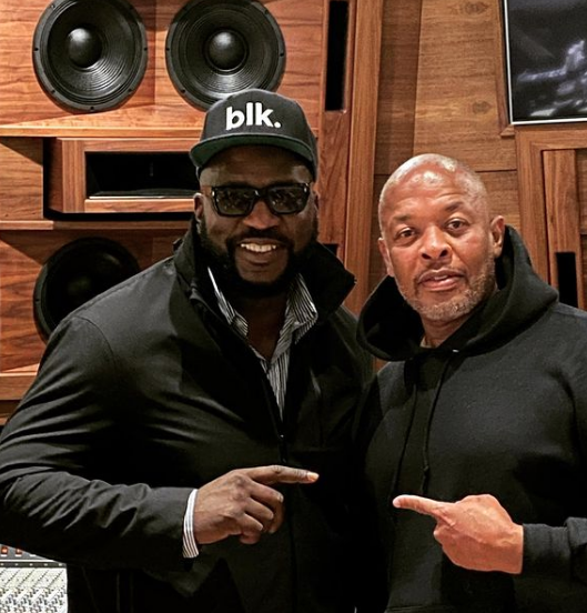 The source |  Dr. Dre seen with Death Row Records founder Harry-O