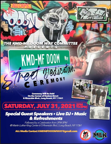 MF DOOM Street Naming Ceremony in Long Beach, NY Announced
