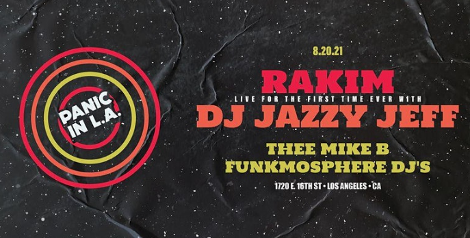 The source |  Rakim and DJ Jazzy Jeff performing live together for the first time in August