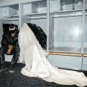 Kim Kardashian West is pulling back the curtain on Kanye West's DONDA experience in Chicago, sharing an image of her in the flowing white dress she wore on the field.