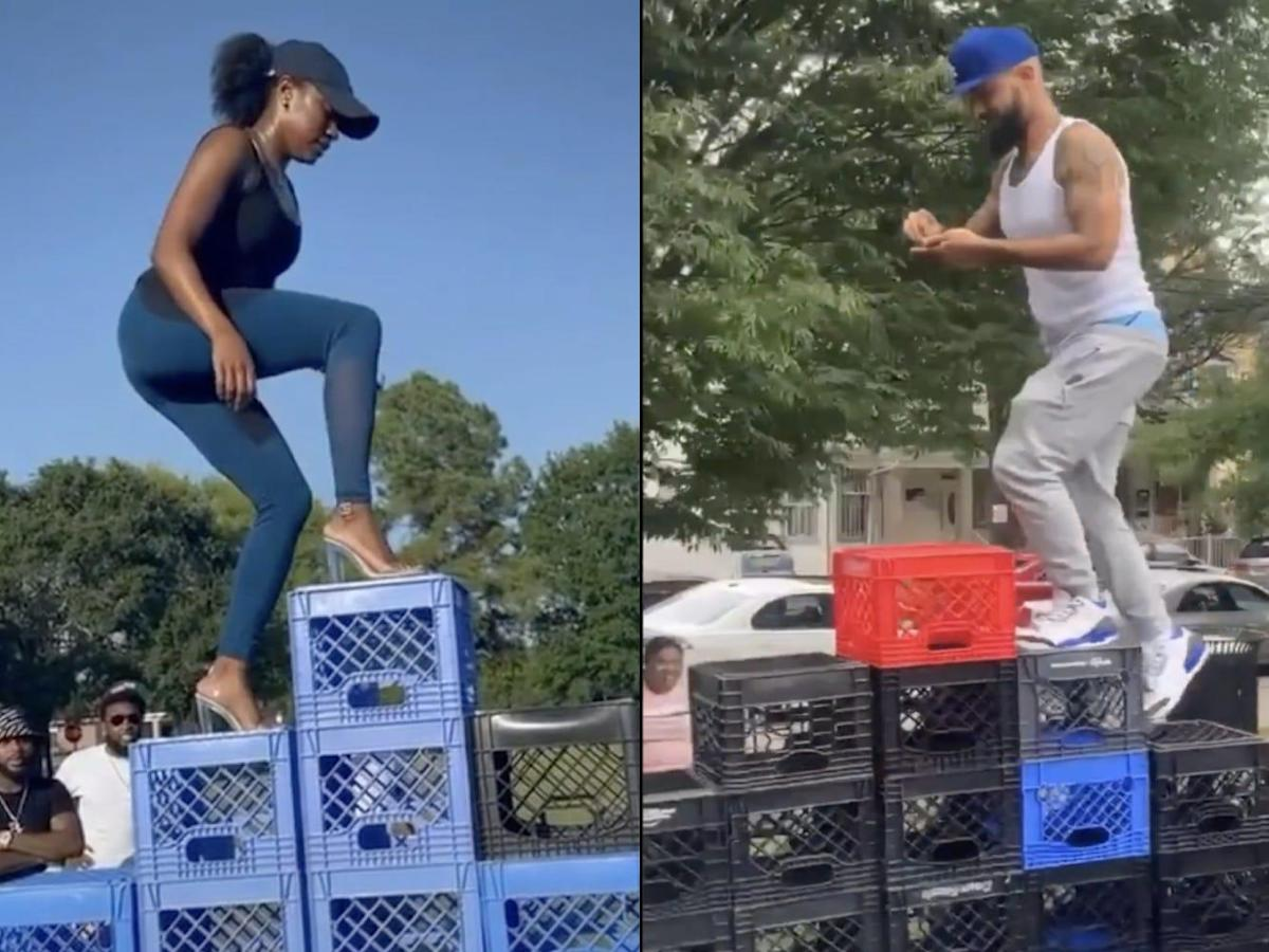 TikTok Bans The 'Milk Crate Challenge' After Reported Injuries