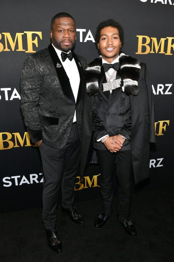 "Curtis ""50 Cent"" Jackson and Demetrius Flenory Jr BMF Red Carpet"