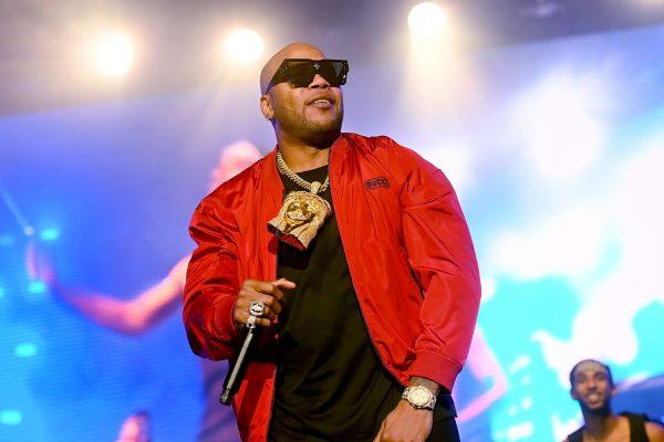 Flo Rida performing at the Atlanta BMF Premiere & Music Concert