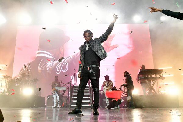 Moneybagg Yo performing at the Atlanta BMF Premiere & Music Concert