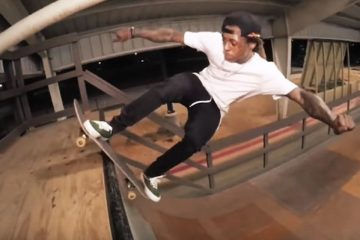 Lil Wayne Skateboarding