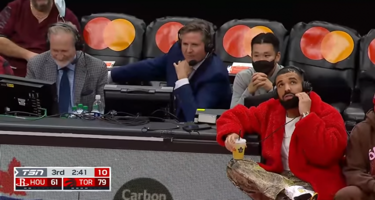 Drake Takes Over Commentary for the Raptors Preseason Game