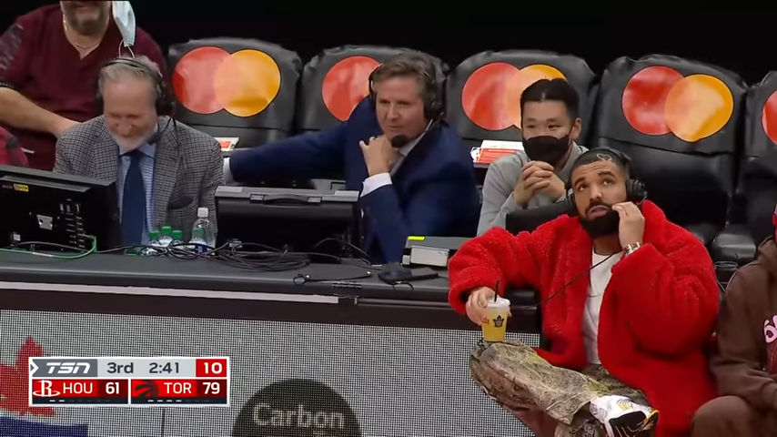 ICYMI: Drake Takes Over Commentary for the Raptors Preseason Game Against the Rockets