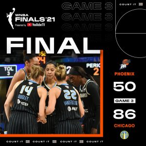 SOURCE SPORTS: Kahleah Copper and Chicago Sky Dominated Phoenix Mercury To Pull One Win Away From First WNBA Championship