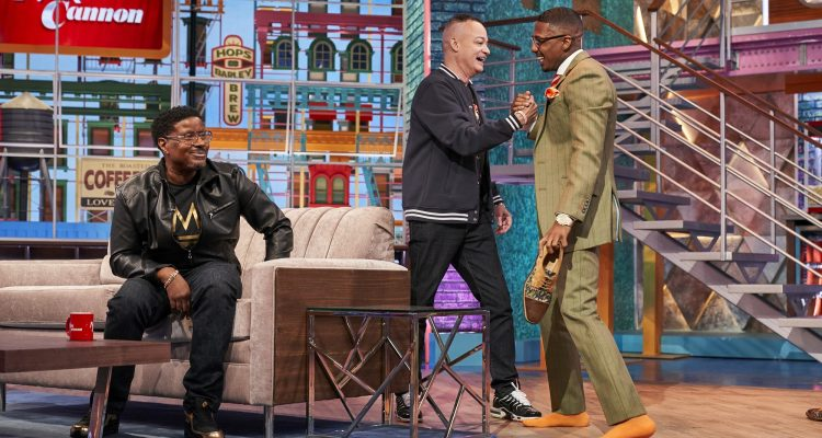 Nick Cannon Gives Kid 'N Play Their flowers on His Daytime Talk Show